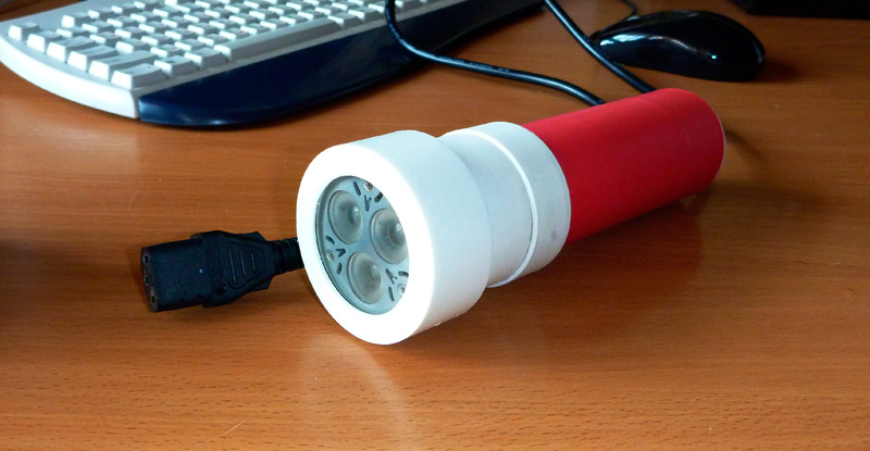 Как сделать фонарик для подводной охоты
