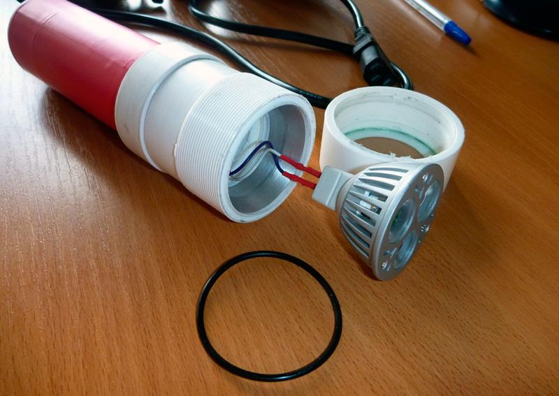 Подводный светильник своими руками