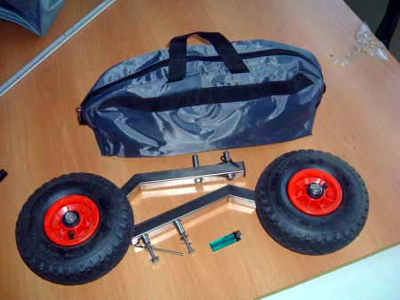 Съемные колеса для надувных лодок