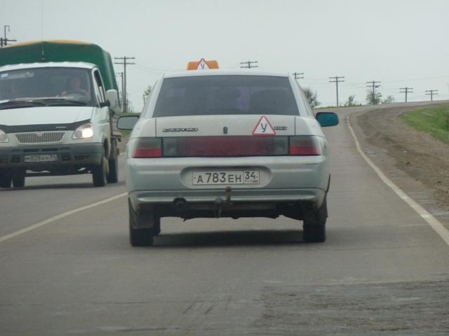 На учебной машине да с шашкой «такси», снято в Волгограде.