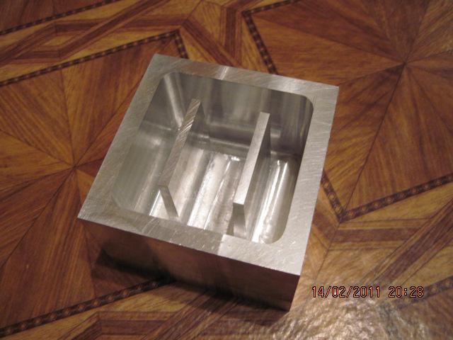 фрезерованная форма для отливки грузов