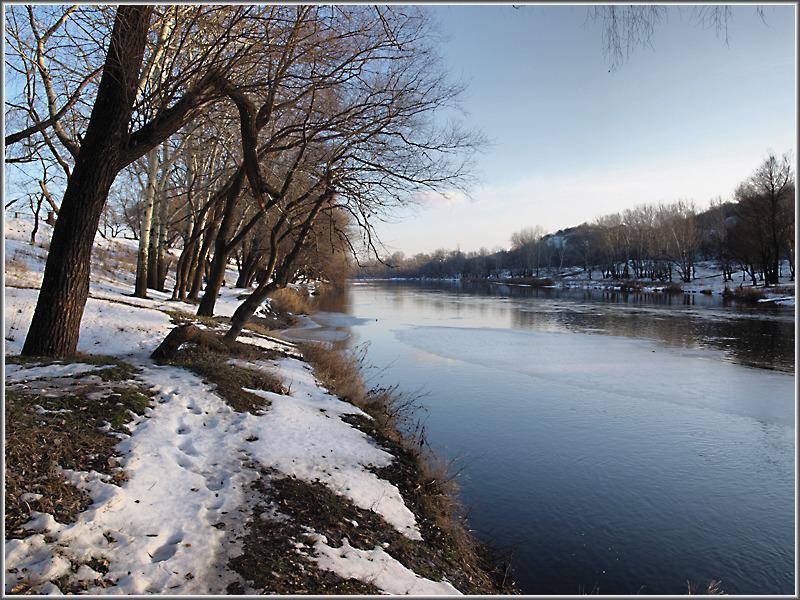 Северский Донец - декабрьская оттепель...