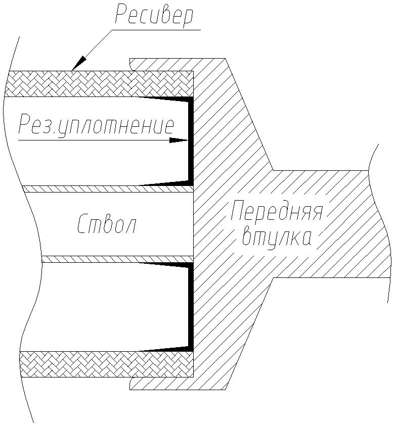 Заделка карбонового ресивера в переднюю втулку